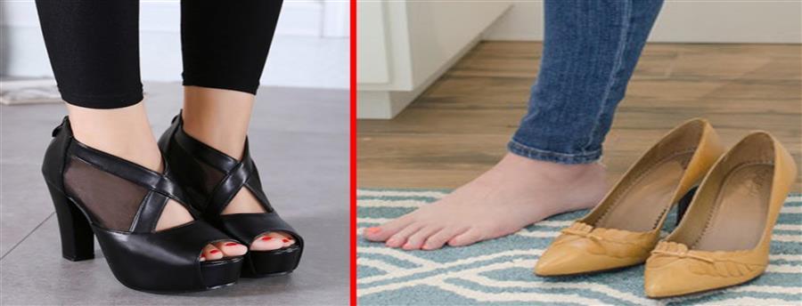 9853acf16 دراسة تفيد أن الحذاء بدون كعب مضر مثل الكعب العالي .. فماذا نرتدي ...