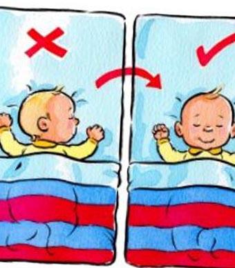 3- النوم على البطن: فقد تنصح بعض الأمهات أو الجدات بوضع الطفل على بطنه  أثناء نومه؛ حتى لا يصاب بتقلصات المعدة، وهو أمر شائع غاية في الخطورة؛ لأن  الطفل قد ...